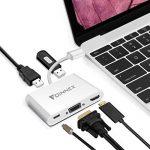 USB-C vers HDMI,VGA,2 x USB 3.0 AV Multiport numérique HUB/Adaptateur avec charge.FOINNEX USB Type C(Thunderbolt 3)dock.Mac Book Pro 2016,2017,Galaxy S8/S8 Plus. de la marque FOINNEX image 3 produit