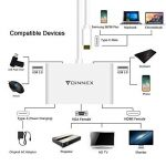 USB-C vers HDMI,VGA,2 x USB 3.0 AV Multiport numérique HUB/Adaptateur avec charge.FOINNEX USB Type C(Thunderbolt 3)dock.Mac Book Pro 2016,2017,Galaxy S8/S8 Plus. de la marque FOINNEX image 1 produit