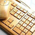 Wired Bambou Clavier et Souris Set Fait à la main Collecte de Bois® Wired Clavier et souris en Bois de Bambou - AZERTY Disposition Français de la marque collecte de bois image 4 produit