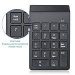 YOHOOLYO Pavé Numérique Sans Fil Mac 2.4 GHz 18 Touches Clavier Numérique avec 4 Petits Coussinets Anti-dérapants pour Windows, etc--Noir de la marque YOHOOLYO image 4 produit